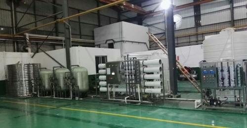 4吨/时双级反渗透+EDI高纯水设备